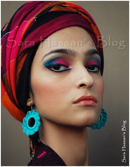 She's wearing a turban. And it's awesome.