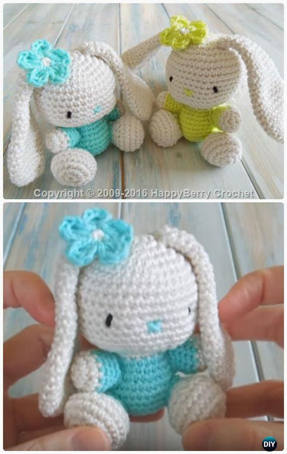 Crochet Amigurumi Flappy Ear Bunny Toy Free Patterns