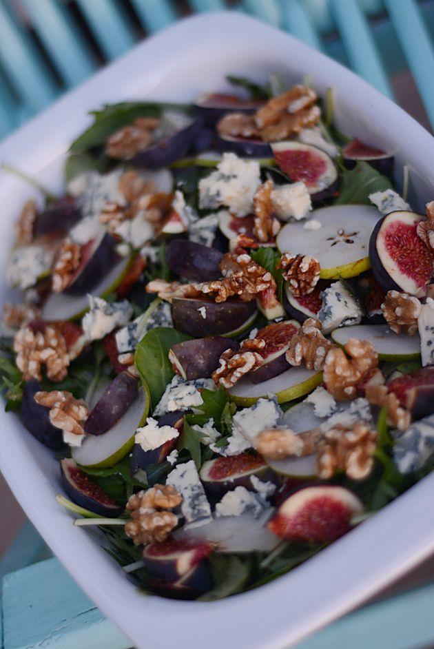 Salat med figner og valnødder/Salad with figs and walnuts/salada com figos e nozes.