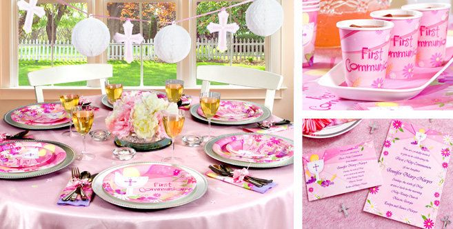 Pink First Communion Party Supplies - Party City