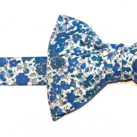 Noeud Papillon Liberty Bleu Emma