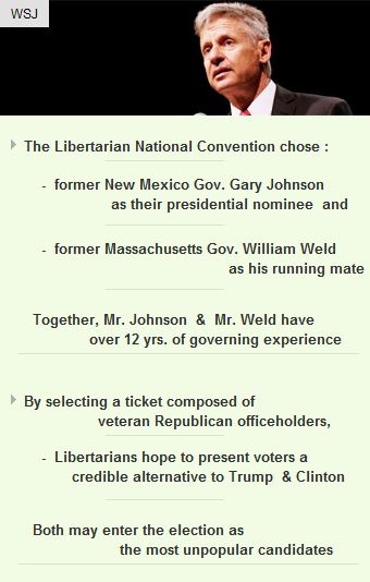 Liberatarians pick Gary Johnson as nominee  #politics #Elections2016 #election #startup #vc http://arzillion.com/S/wE8Qqs