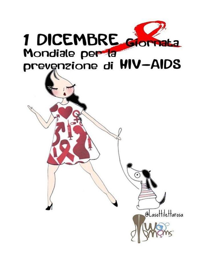 La Giornata mondiale contro l'AIDS è dedicata ad accrescere la coscienza della epidemia mondiale di AIDS dovuta alla diffusione del virus HIV. Città e monumenti si tingono di rosso. Test gratuiti e raccolte fondi nelle piazze.  #hiv #aids #giornatamondialecontrolaids #womoms #womoms_official
