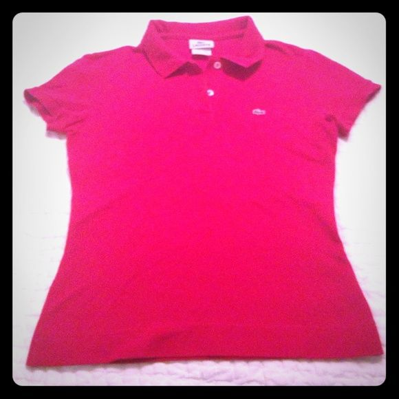 Red Lacoste polo shirt Cherry red Lacoste polo. Lacoste Tops