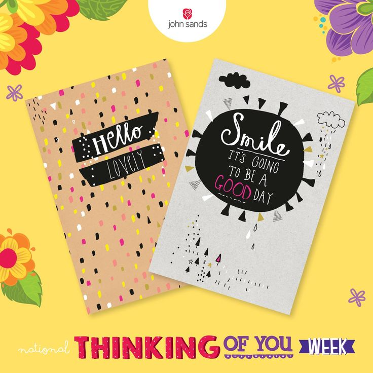 Next week it's National Thinking of You Week! Buy one of these cards, send to to your friends, follow instructions here: http://spr.ly/6187BsYh3 and perhaps you will a years' worth of greeting cards! T's and c's in our 'notes' section. #TOYW #RaiseASmile #Johnsands #Greetingcard