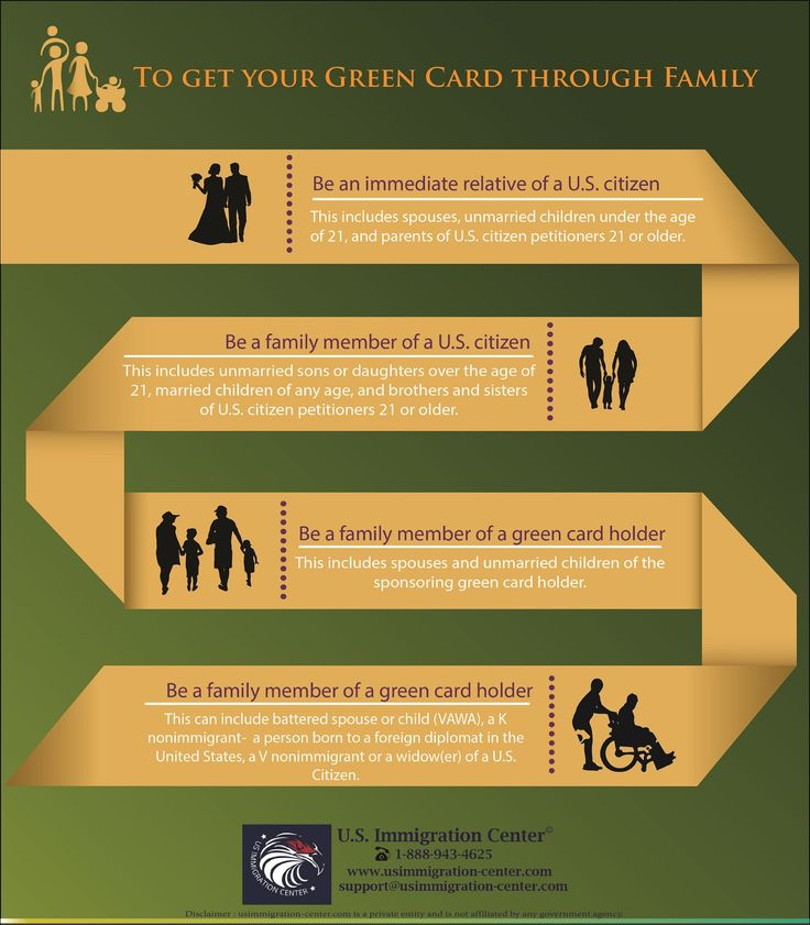 Through Family Date: June 3, 2016 Author: usimmigrationcenter 0 Comments  To get your green card through family    Getting a Green Card is not quite easy. There are certain requirements that need to be fulfilled in order to apply for green card through family. You should have lived in the United States for 2 years and then your immediate relative should file form I-130 and get approval.