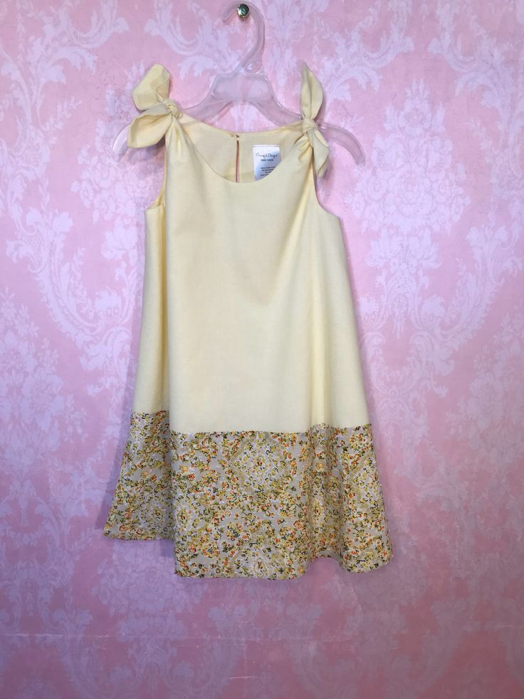 Excited to share the latest addition to my #etsy shop: summer dress for girls. Summer dress for toddler. Dress for girls. Dress for photoshoot. Dress for baby girl.  Size 5. Yellow dress. vintage #clothing #children #dress #brown #birthday #beige #casualdress #thanksgiving #cotton