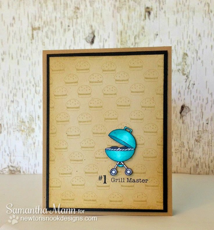 Sam's Scrap Candy - Grill card by Samantha Mann | Winston's BBQ | Newton's Nook Designs