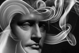 Face, Soul, Head, Smoke, Light, Sad