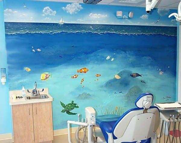 Kids Murals Children S Mural Under The Sea In A