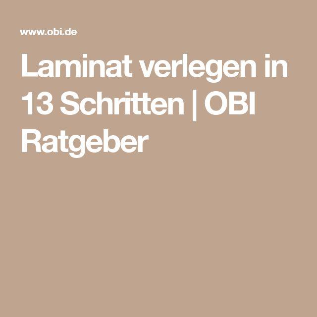 Laminat verlegen in 13 Schritten | OBI Ratgeber