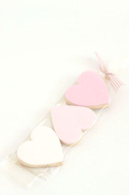 cute heart favor cookies