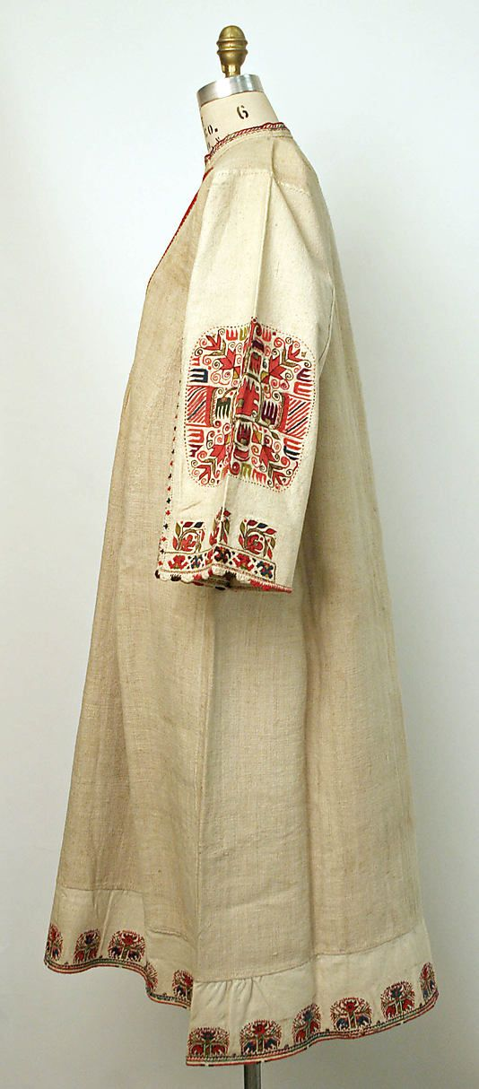 #Bulgaria, vintage folk embroidery, Underdress from 1800s The embroidery looks to be Bulgarian.