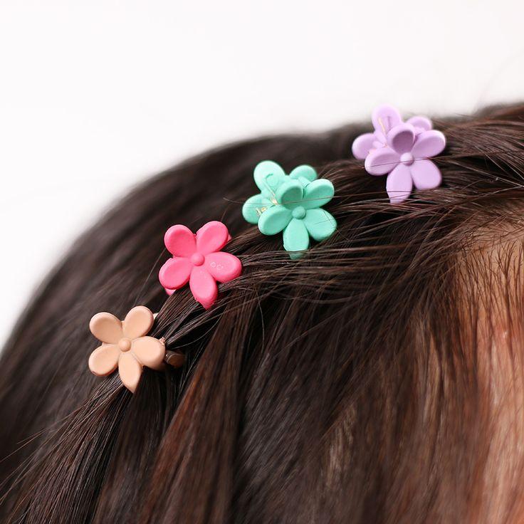 40 pz Moda Accessori Per Capelli Forcelle Piccoli Fiori Pinza Bambini Coreani 4 Artigli di Plastica Clip di Capelli Morsetto