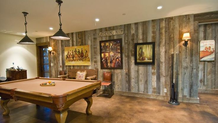 Antique Barnwood Gray Rough, Accent Wall in Dining Room (see Dining Room Colors)