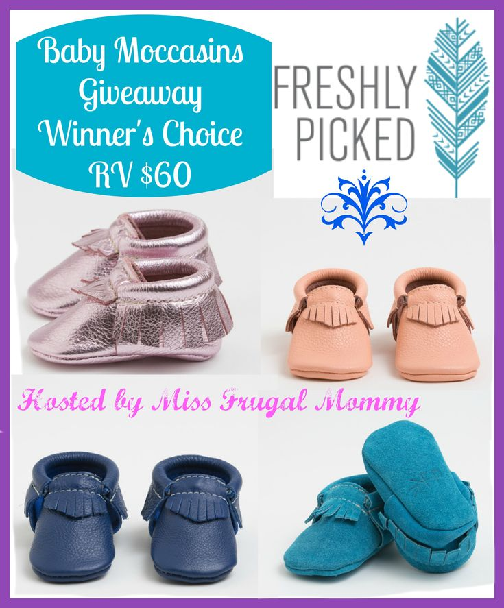 Freshly Picked Baby Moccasins Giveaway ~ Ends 5/1