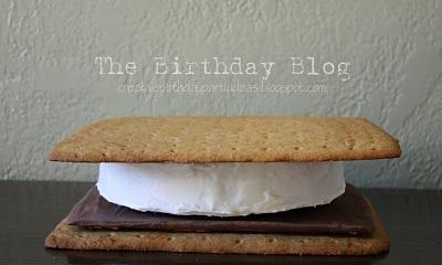Giant S'mores Cake... see also http://meandmyinsanity.com/2011/10/camping-birthday-adventure.html