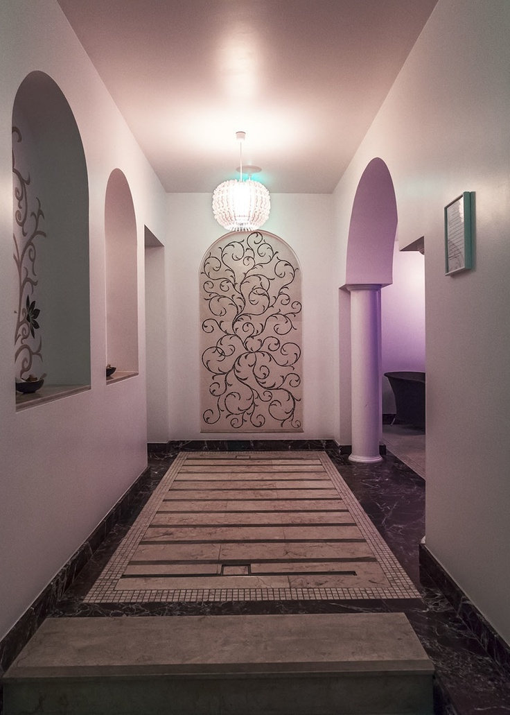 Hallway eastern design at Epoque SPA, Bucharest
