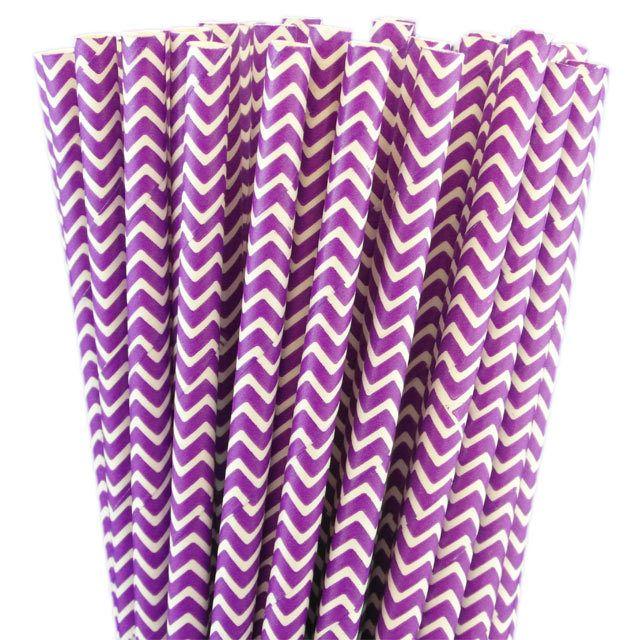 Greenmunch - Paper Straws - Lilac Chevron, $4.50 (http://www.greenmunch.ca/paper-straws/standard-length/chevron/paper-straws-lilac-chevron/)