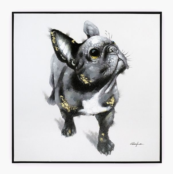 Quadro Bulldog 70 x 70 cm | A Loja do Gato Preto | #alojadogatopreto | #shoponline | referência 58868812
