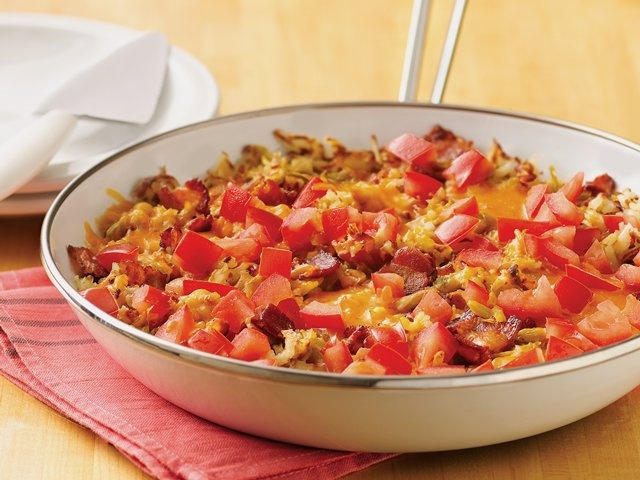 Breakfast Skillet ~ Great for a large group. I've made this as breakfast for one.