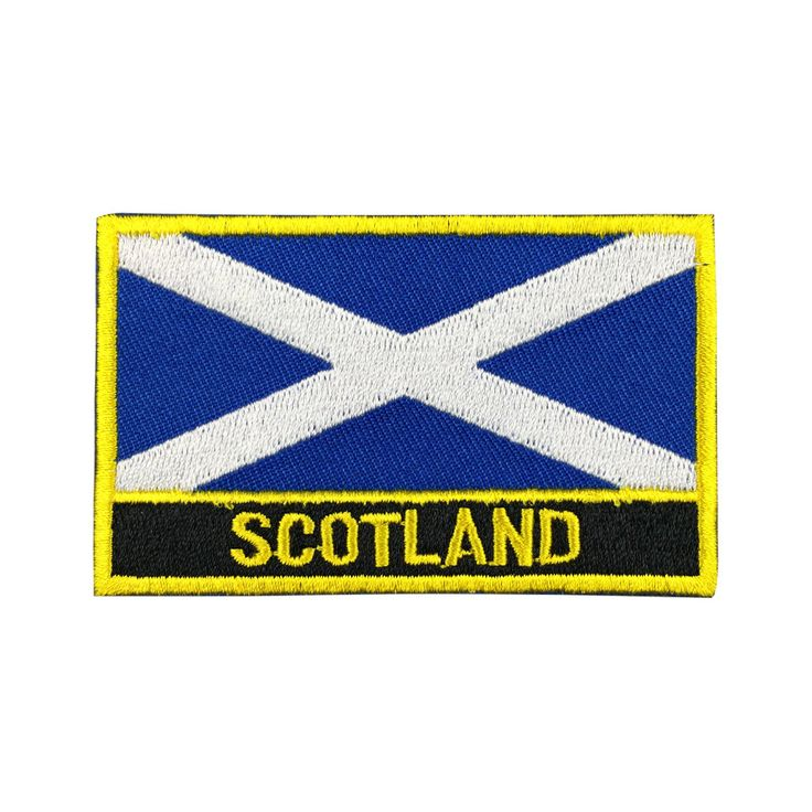 Scotland Flag Patch Embroidered Patch Gold Border Iron On patch Sew on Patch Bag Patch meet you on www.Fleckenworld.com