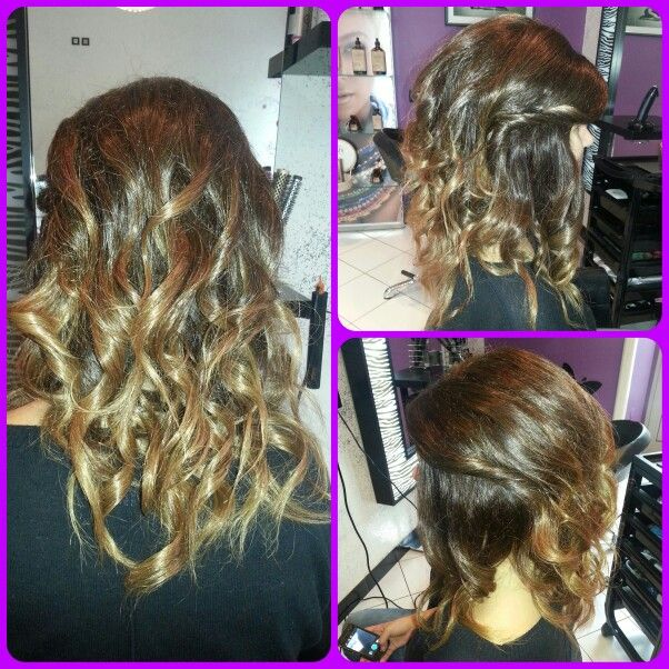 Ombre and curls