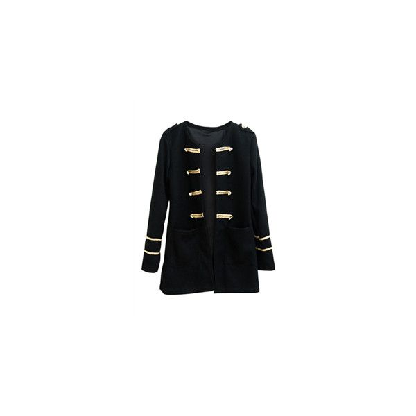 On Parade Jacket ❤ liked on Polyvore featuring outerwear, jackets, military style jacket, gold jacket, military jacket, embellished military jacket and military inspired jacket