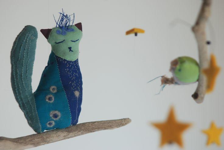 Mobile Sacha, le chat. Par la Boîte à Muses