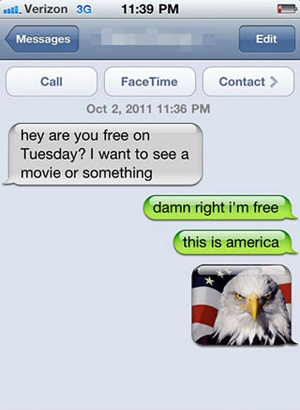 The Patriotic Method: | 22 Hilarious Ways To Deal With A Text From A Stranger