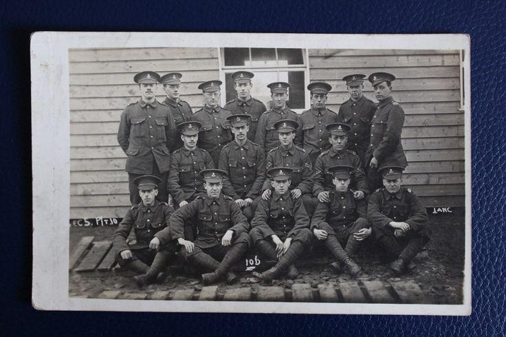 WW1 Era Photographic Postcard - Kings Regiment Training Unit Photograph, £4.50