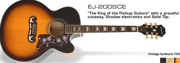 Epiphone ej200sce epiphone guitar sunburst