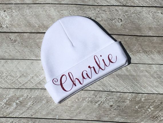 Glitter Monogram Beanie Personalized Baby Hat By