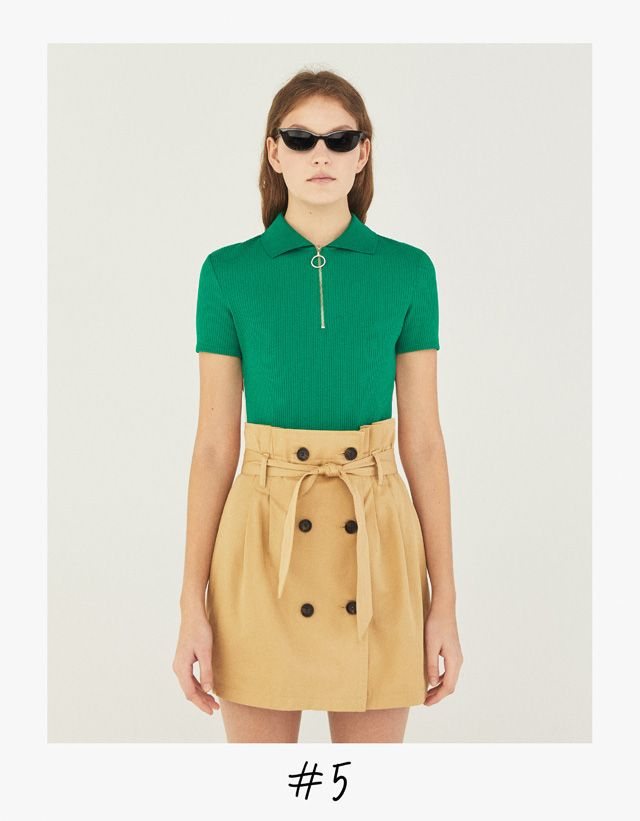 2732c840 BERSHKA. Falda mini paperbag con cinturón. 11,99€ | Moda 2018 SS ...