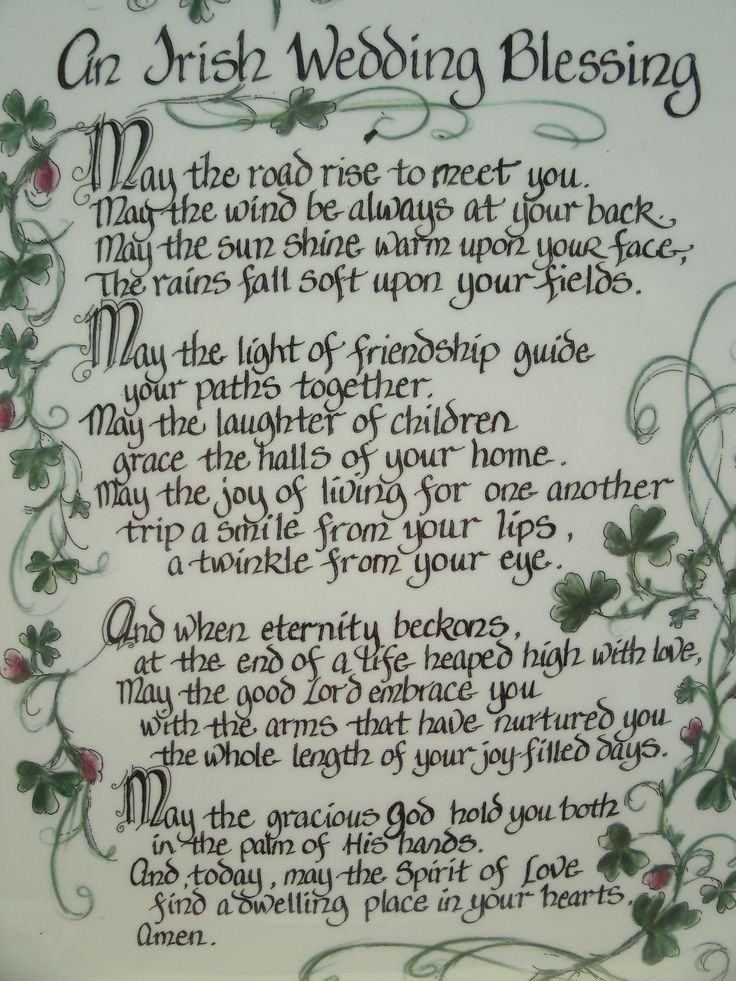 Irish Wedding Blessing- I need an Irish husband for my future Irish wedding!