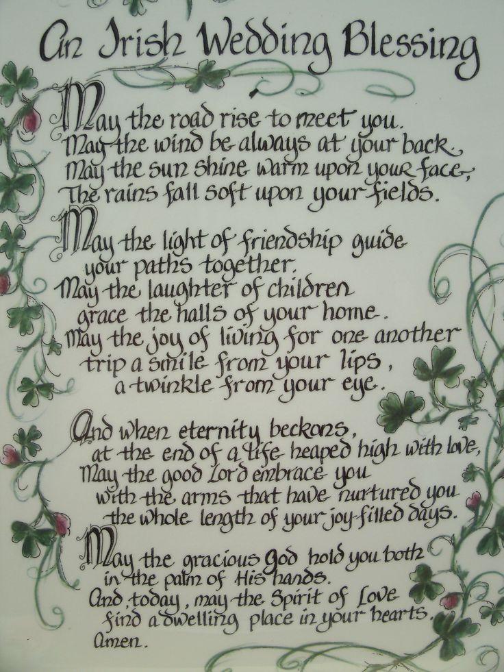 Wedding blessing i need an irish husband for my future irish wedding