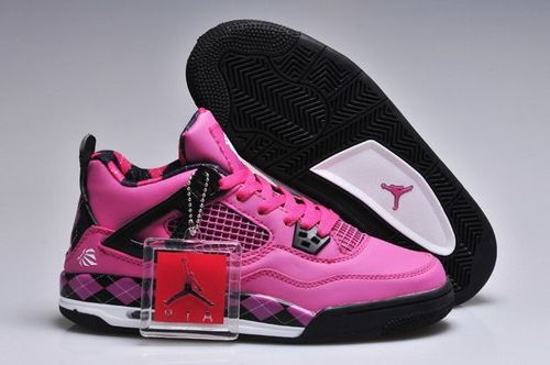 Nike Air Jordan 4 Iv Free Womens Shoes Fushia Black Inexpensive