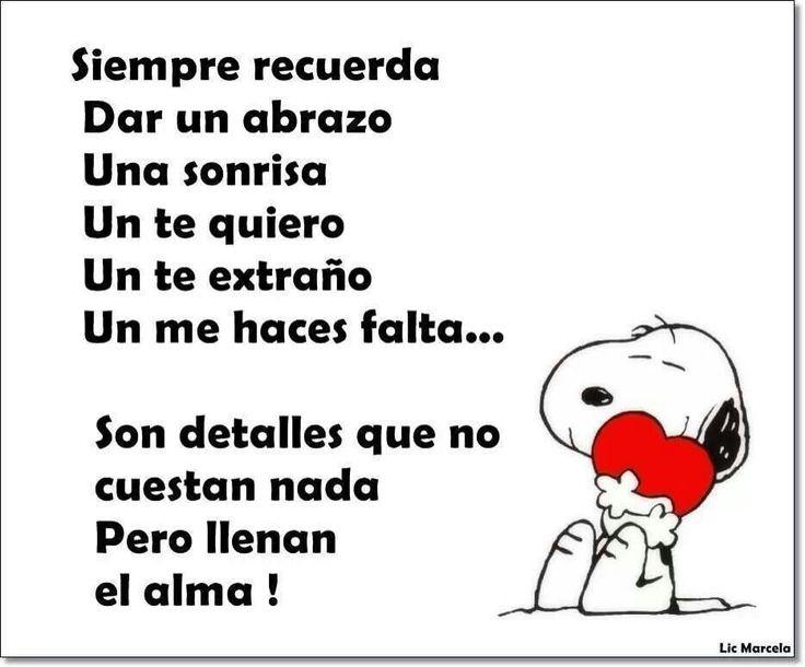 Frases Bonitas Con Snoopy Imagui