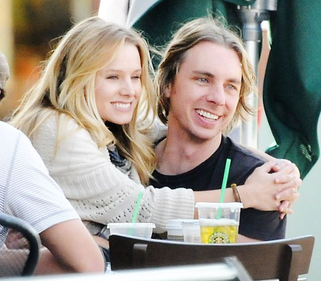 Kristen Bell and Dax Sheppard; exact same forehead, eyes, nose and mouth shape!......cute coupe. Love them!