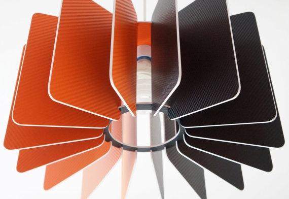Modern lamp shade by Manzagi Carbon fibre inspired by manzagi, £77.00