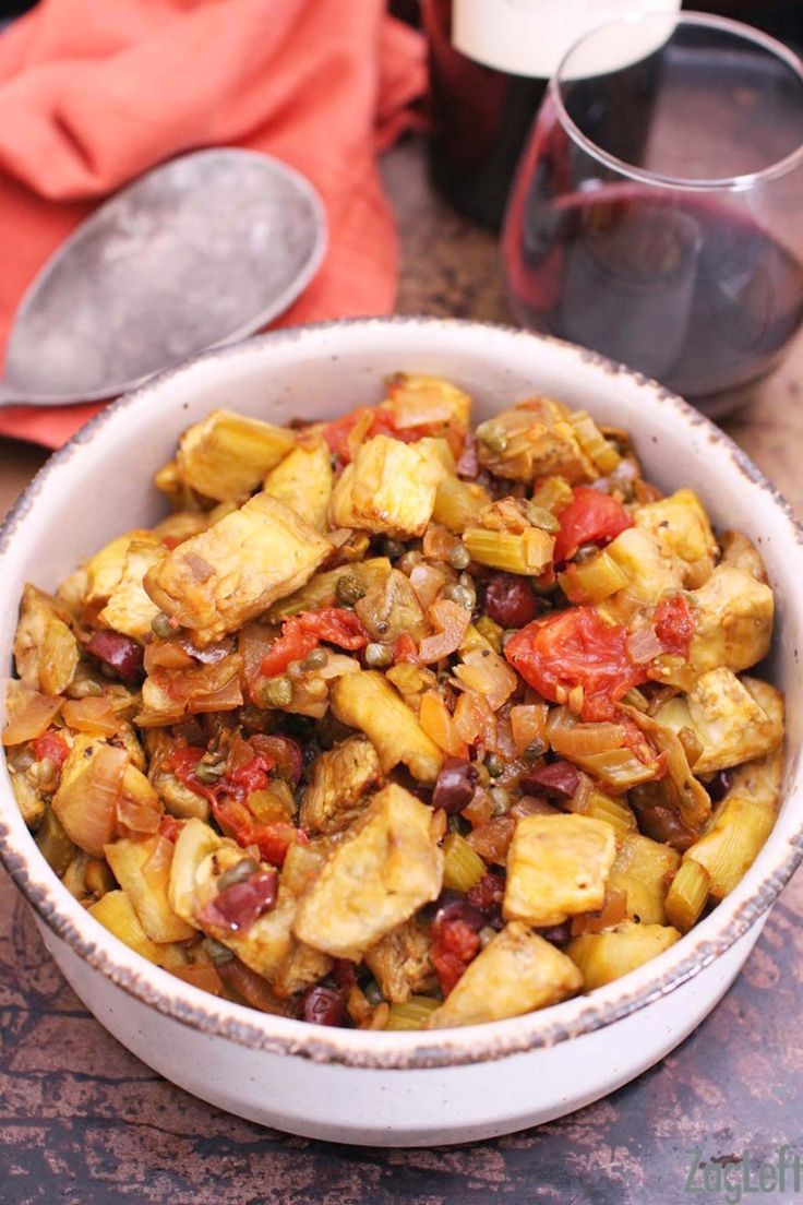 kitchen boss eggplant caponata%0A Caponata  a wonderful dish from southern Italy made with a lovely  assortment of fresh vegetables