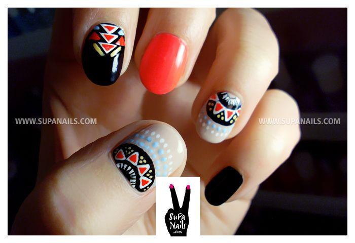 Hot nails #tribal #supanails #nailart