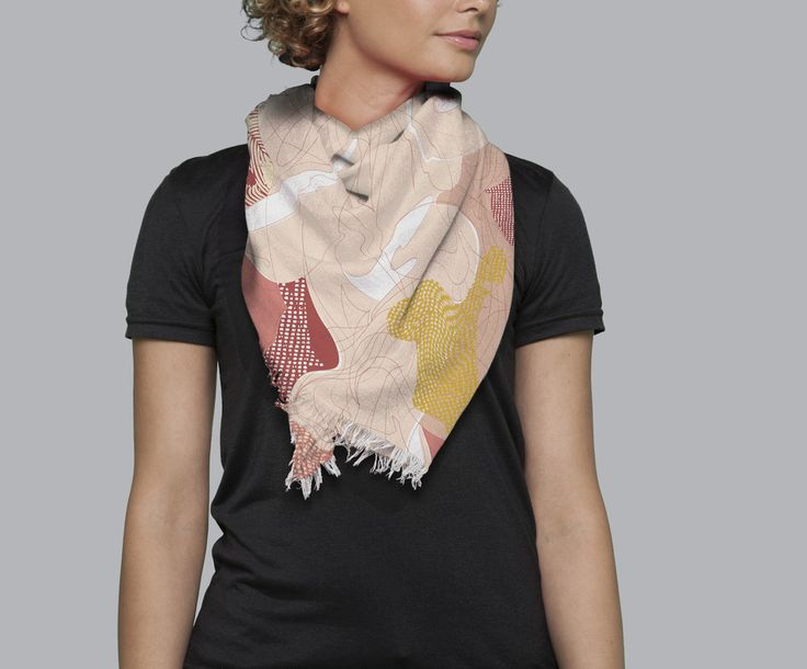 Modal Scarf - Abstract Petals by VIDA VIDA fC6Yr