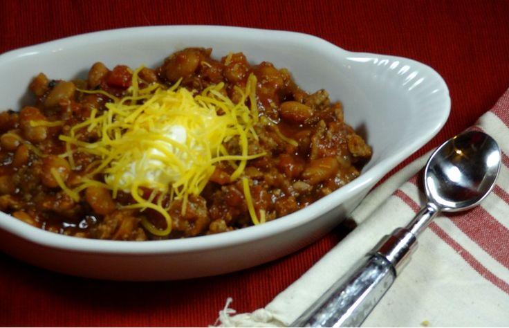 crockpot chili, 3 ingredient, gluten free
