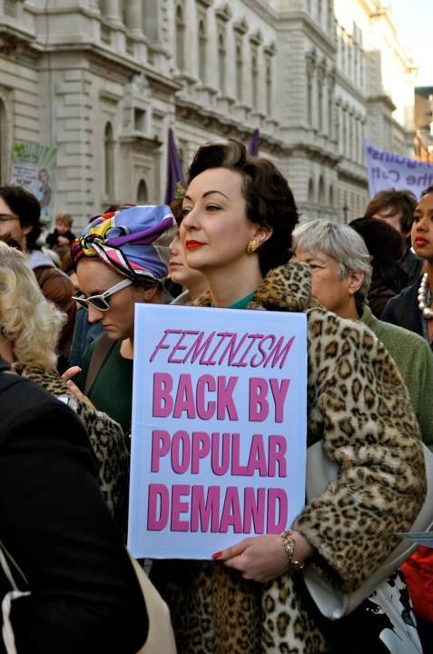 Feminism, back by popular demand. Oh she is all that and more, just look at her! And the sign rocks too of course.