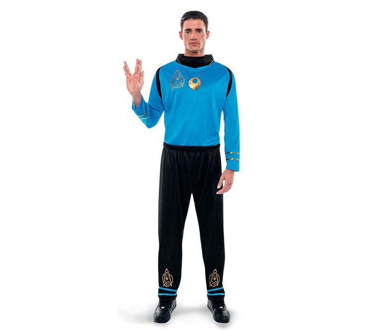 Disfraz de Oficial galáctico para hombre en talla Universal M-L. Incluye camisa y pantalones. Completa tu disfraz con artículos de nuestra sección de accesorios como orejas de elfo, pistola, peluca o maquillaje. Perfecto para imitar famoso Oficial Científico Spock, protagonista de la serie y películas de Star Trek. Disfraz muy original que hará las delicias de los fans trekkies más nostálgicos. Y recuerda que tienes 14 días para su devolución sin compromiso.