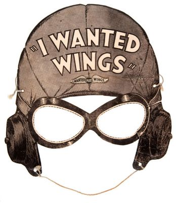 I wanted wings ~ vintage, type paper mask