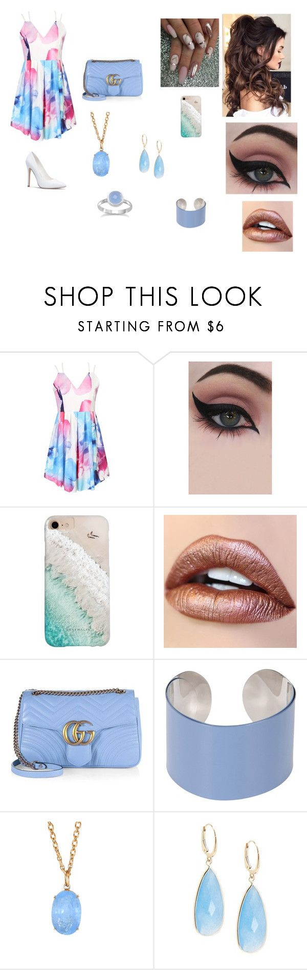 """""""Untitled #174"""" by kaylabethsimpson on Polyvore featuring Concrete Minerals, Gray Malin, Gucci, Maison Margiela, Irene Neuwirth and Saks Fifth Avenue"""