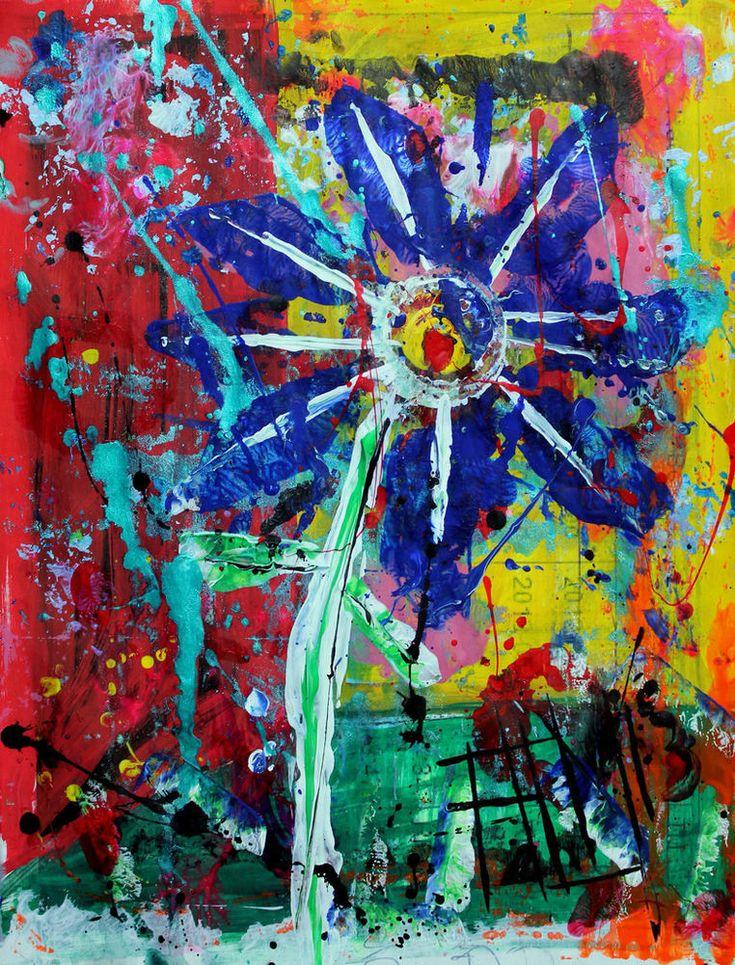 Franck de las Mercedes Signed Art Print of original floral artwork FLOR URBANA #Expressionism