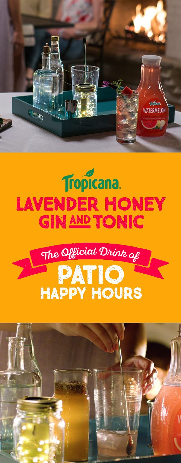 Lavender Honey Gin U0026 Tonic. Outdoor KitchensPatioLiquorGinThis  SummerLavenderTropicalHappy HourDrinking